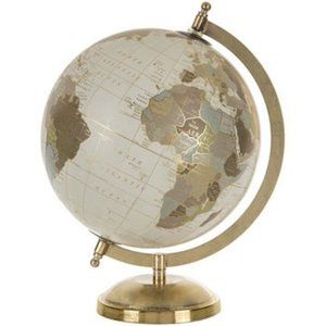 Gold Globe with Stand Home Decor